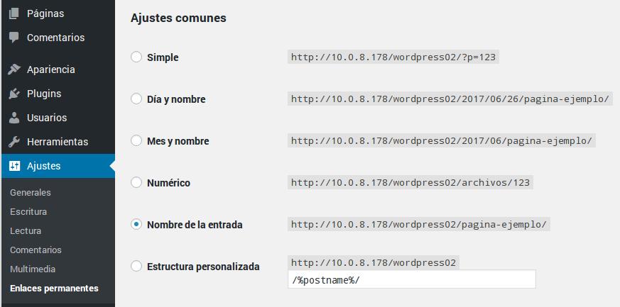Habilitar URL amigables