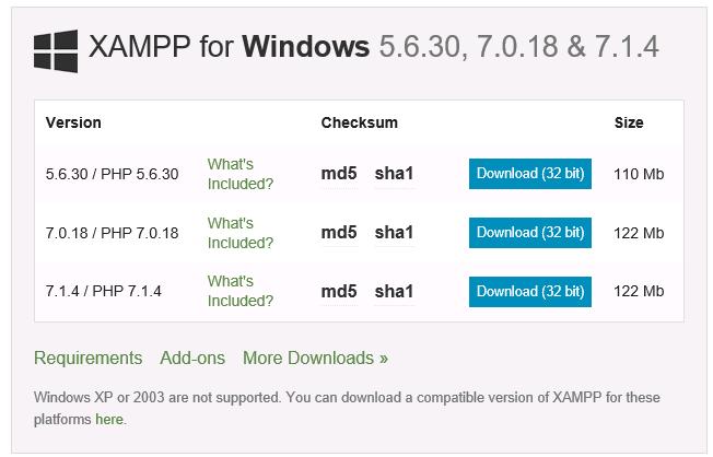 Descargar XAMPP