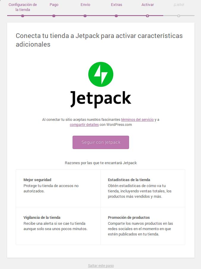 Conectar con Jetpack