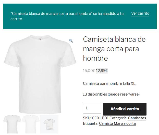 Tienda - Página del producto - Producto simple