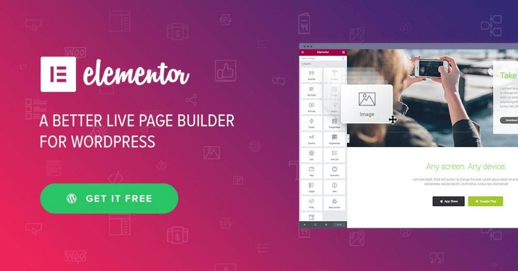 Elementor es una buena opción para crear landing pages en WordPress de una manera cómoda
