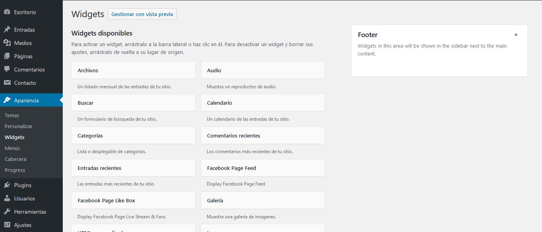 Zona Widget WordPress