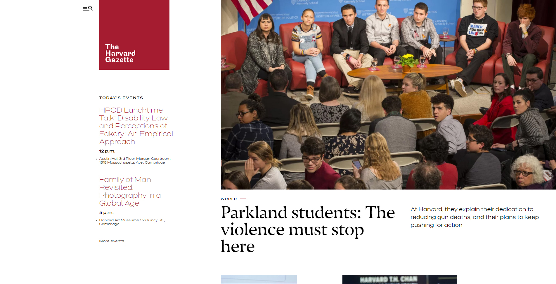 Diseño Web con WordPress Harvard Gazette