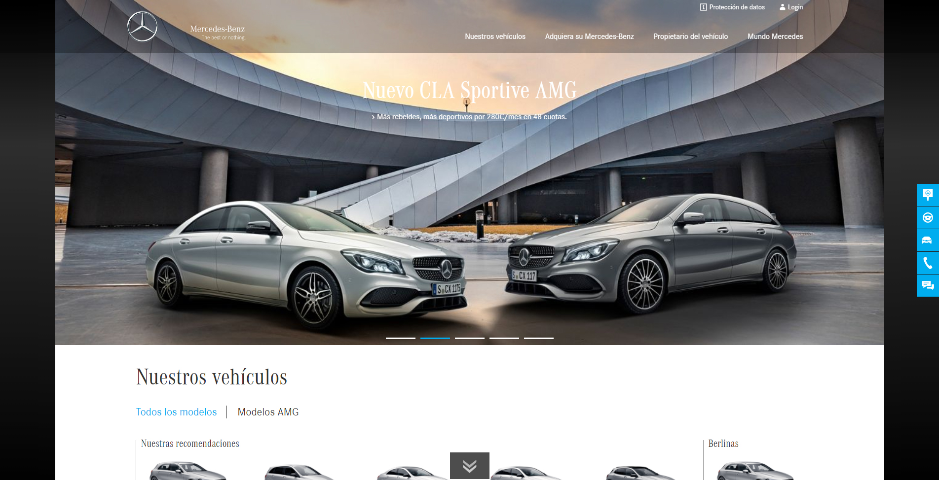 Diseño Web con WordPress Mercedes-Benz