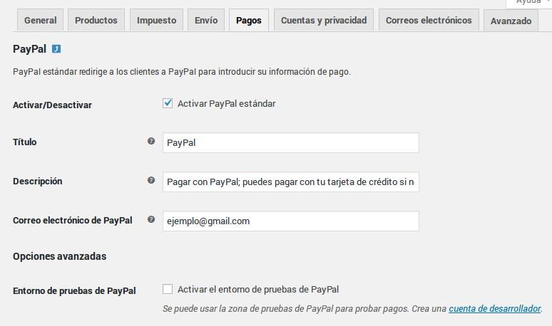 Pagos - Paypal