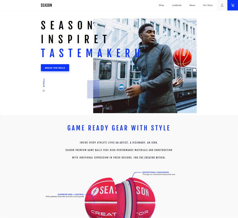 Diseño eCommerce Marca Season