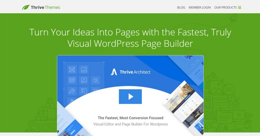 Thrive Content Builder es un plugin orientado a crear landing pages en WordPress