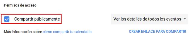 Compartir calendario