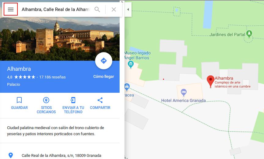 Google Maps - Ubicación