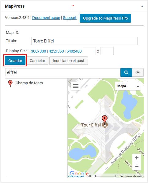 Plugin - Insertar mapa 2