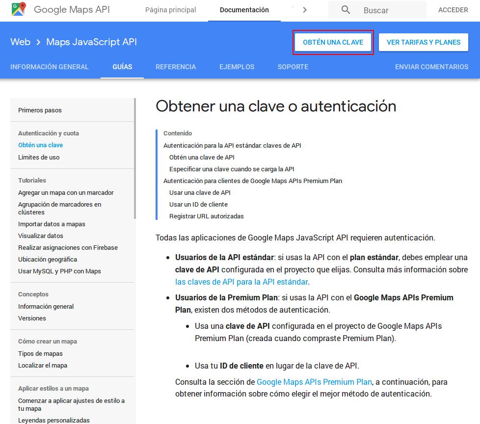 Obtener API Key 1