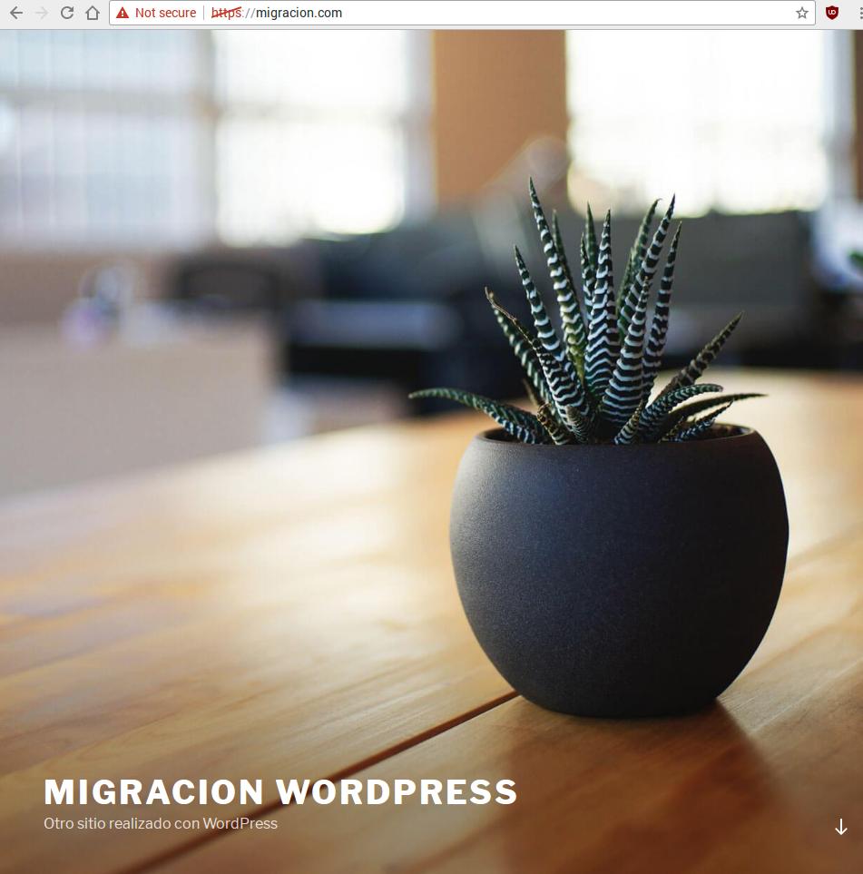 WordPress nuevo servidor