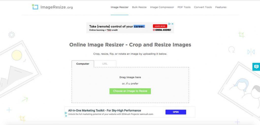 Cambiar el tamaño para optimizar las imágenes de una web